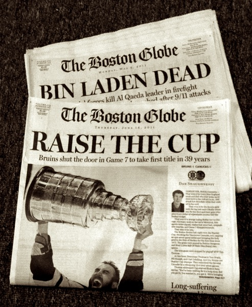 Compare Bin Laden to Bruins