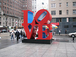 LOVE sculpture NY